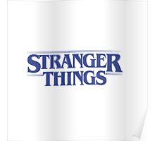 Stranger Things - Blue Poster