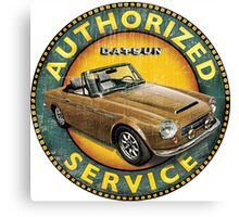 Datsun 2000 Fairlady Authorized service Canvas Print