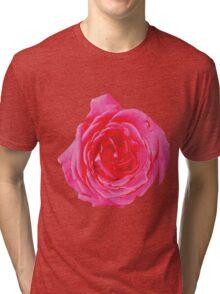 Beautiful big red rose Tri-blend T-Shirt