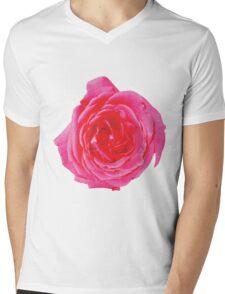 Beautiful big red rose Mens V-Neck T-Shirt