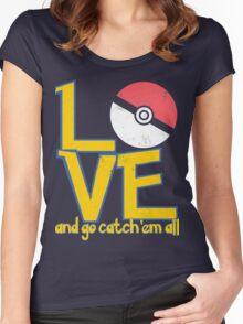 Poke-Love #3-b Women's Fitted Scoop T-Shirt