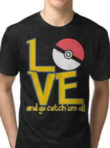 Poke-Love #3-b Tri-blend T-Shirt