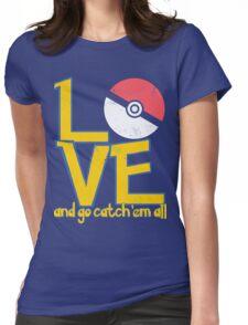 Poke-Love #3-b Womens Fitted T-Shirt