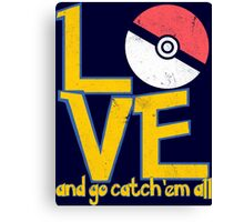 Poke-Love #3-b Canvas Print