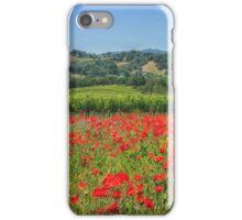 Poppy vineyards iPhone Case/Skin
