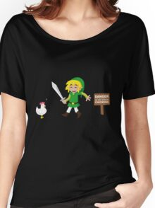 Link and the chickens... Women's Relaxed Fit T-Shirt