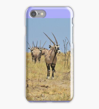 Oryx - African Wildlife - Gemsbok Line of Horns iPhone Case/Skin