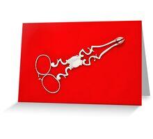 Silver Sugar Scissors Greeting Card