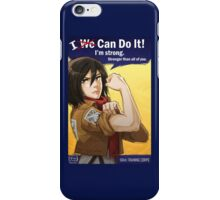 Mikasa: I Can Do It! iPhone Case/Skin