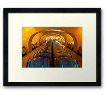 Domaine Bertaud Belieu wine celler, France Framed Print