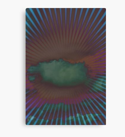Psychedelic clouds print Canvas Print