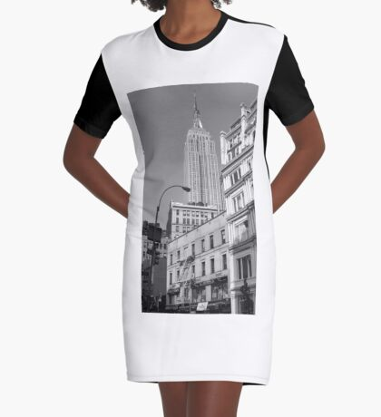 Empire State Building Graphic T-Shirt Dress