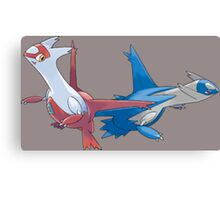 Latios and Latias Canvas Print