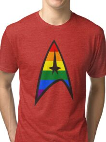 Gay Star Trek Emblem Tri-blend T-Shirt