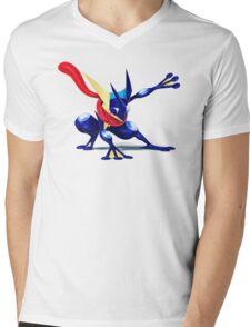 Greninja Mens V-Neck T-Shirt