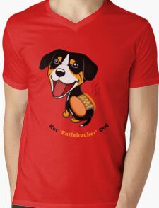 Hot Entlebucher Dog Mens V-Neck T-Shirt
