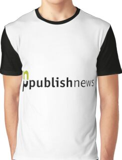PublishNews Logo White Graphic T-Shirt