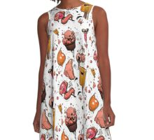 Sexy sweets tiled pattern A-Line Dress