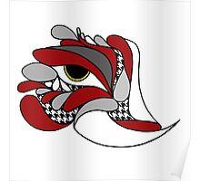 Alabama Elephant Hounds tooth Eye Poster