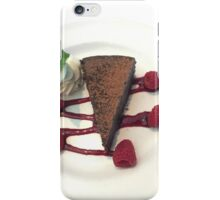Flourless Chocolate Cake w/Rasberry & Sauce and Mint iPhone Case/Skin