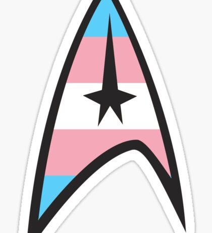 Trans Star Trek Emblem Sticker