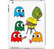 Pac Man is dead, so let's barbecue! iPad Case/Skin