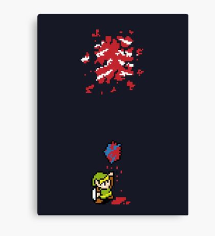 Link got a heart (super nes edition) Canvas Print