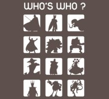 Who's who ? (bad guys edition) One Piece - Short Sleeve
