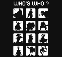 Who's who ? (bad guys edition) Kids Tee