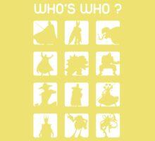 Who's who ? (bad guys edition) Kids Tee