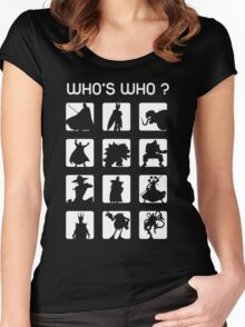 Who's who ? (bad guys edition) Women's Fitted Scoop T-Shirt