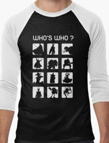 Who's who ? (bad guys edition) Men's Baseball ¾ T-Shirt