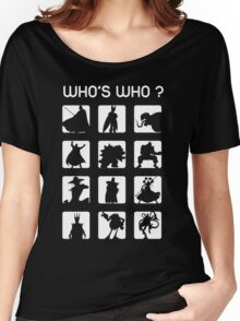 Who's who ? (bad guys edition) Women's Relaxed Fit T-Shirt