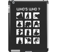 Who's who ? (bad guys edition) iPad Case/Skin
