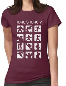 Who's who ? (normal difficulty) Womens Fitted T-Shirt