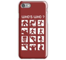 Who's who ? (normal difficulty) iPhone Case/Skin
