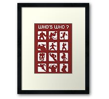 Who's who ? (normal difficulty) Framed Print