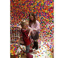 Dots & Children Photographic Print