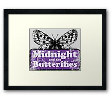 Midnight and the Butterflies Framed Print