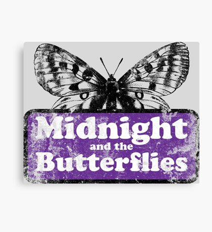 Midnight and the Butterflies Canvas Print