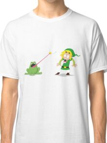 Link and a frog Classic T-Shirt