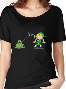 Link and a frog Women's Relaxed Fit T-Shirt