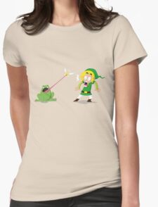 Link and a frog Womens Fitted T-Shirt