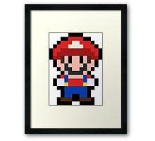 Pixel Mario Framed Print