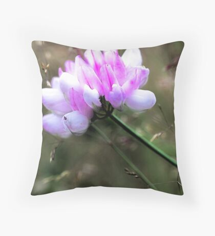 Crown Vetch - In Tall Meadow Grass Throw Pillow