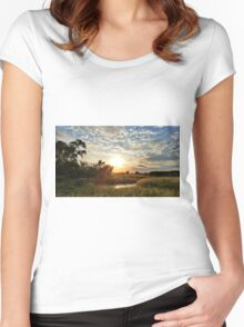 Butler County Sunset Women's Fitted Scoop T-Shirt