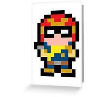Pixel Captain Falcon Greeting Card