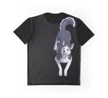 Husky Sitting Graphic T-Shirt