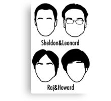 Men of Big Bang Theory Canvas Print