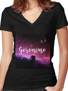 Geronimo ! Women's Fitted V-Neck T-Shirt